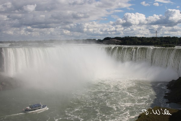 The Canadian side of Niagara Falls, ON, Canada