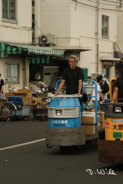 Electric cart at the Tsukiji fish market, Tokyo, Japan