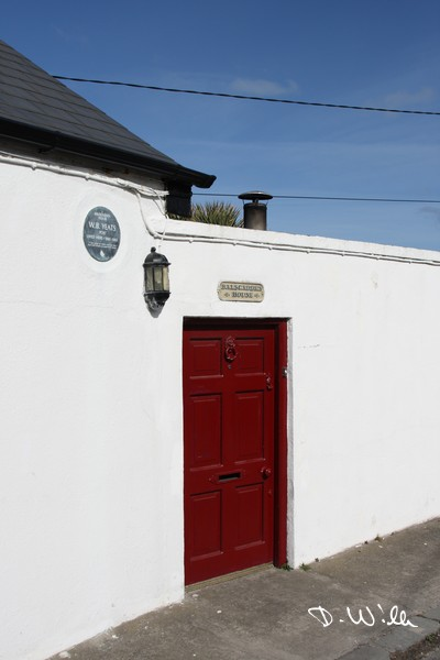 Red door at a house in Howth, Ireland