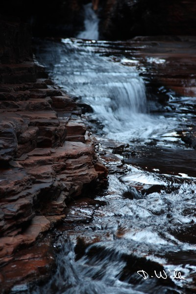 A small stream at Karijini National Park, WA, Australia