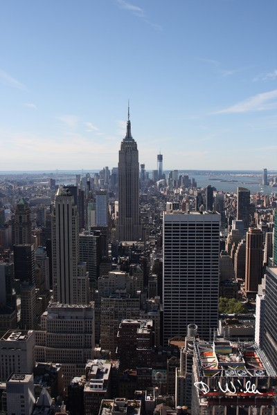 View to the south from the Rockefeller Center in Manhattan, New York City, NY, United States of America