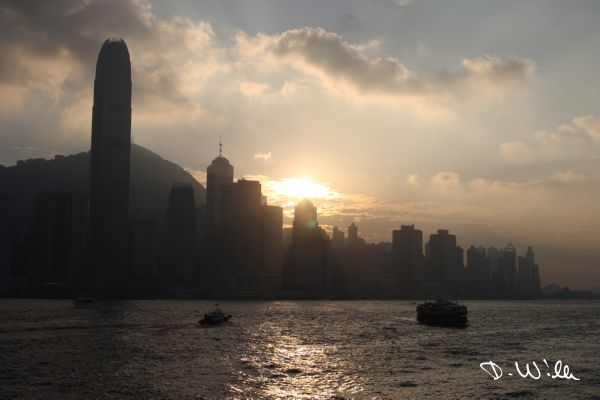 Sunset over Hong Kong Island, Hong Kong