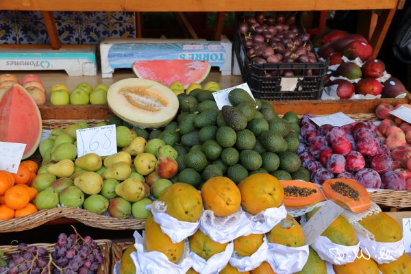 Vegetables and Fruits at the market in Funchal, Madeira, Portugal