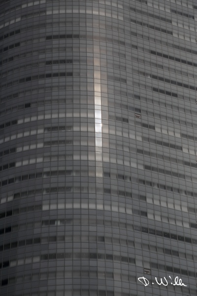 Reflections on a highrise, Tokyo, Japan