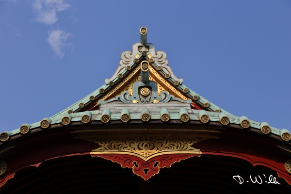 Roof of the Kanda Myōjin Shrine, Tokyo, Japan
