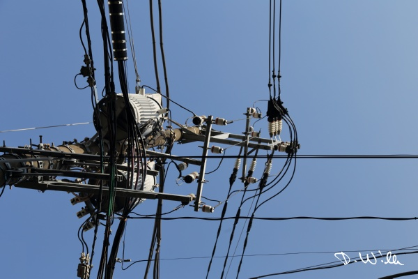 Typical power supply line, Tokyo, Japan