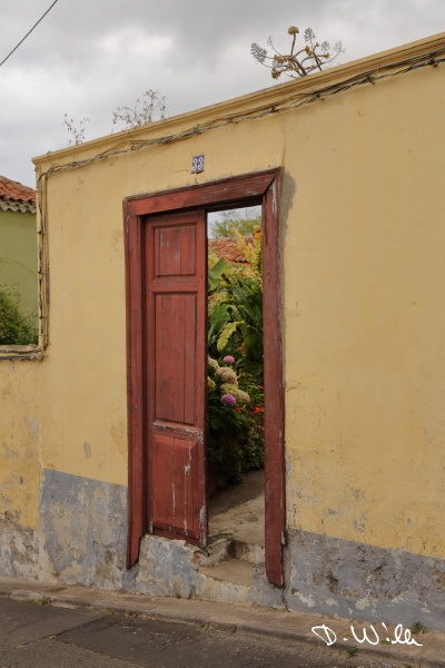 Door to a patio in La Orotava, Teneriffe, Spain