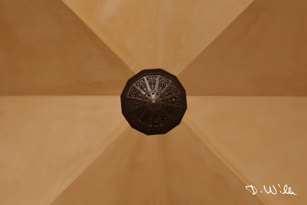 Ceiling light at the Sultan Qaboos Mosque in Nizwa, Oman