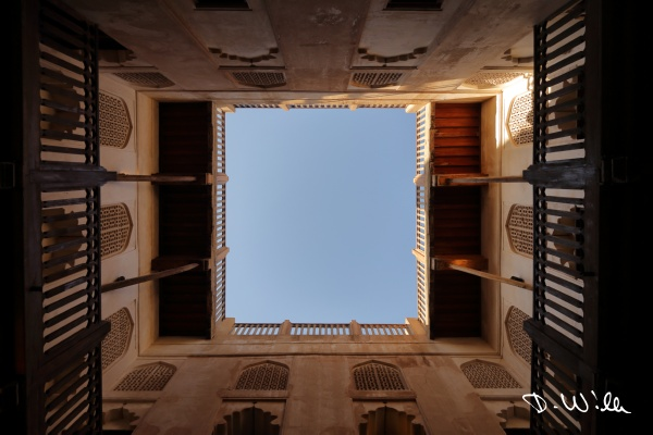Inner courtyard at Jabreen Castle, Bahla, Oman