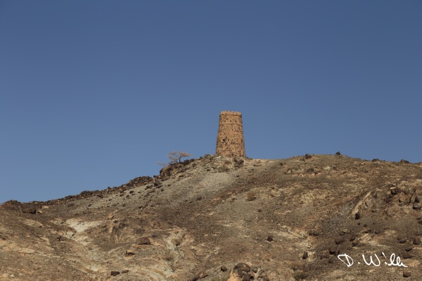 Old watch tower, Al Mudhaireb, Oman