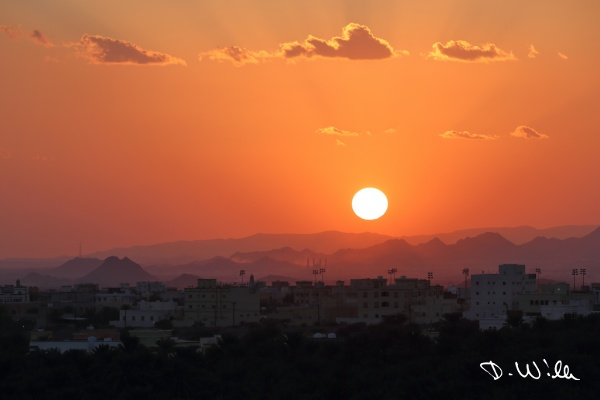 Sunset over Birkat al Mouz, Oman