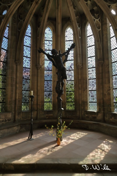 Crucifix at the Tonsur chapel of Magdeburg Cathedral, Magdeburg, Germany