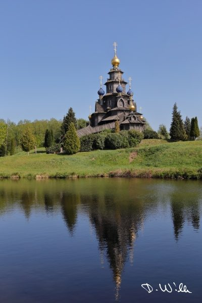 Russian stave church at the International Wind and Watermill Museum, Gifhorn, Germany