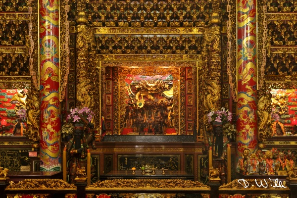 Altar inside of the Alishan Shouzhen Temple, Alishan, Taiwan