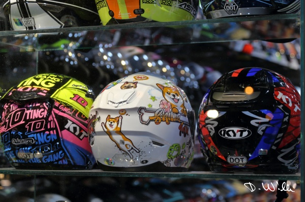 Helmets in a shop, Hualien, Taiwan
