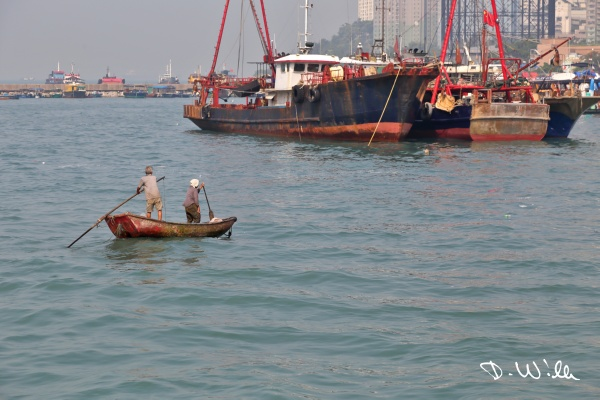 Small fishing boat at Aberdeen harbor, Aberdeen, Hong Kong