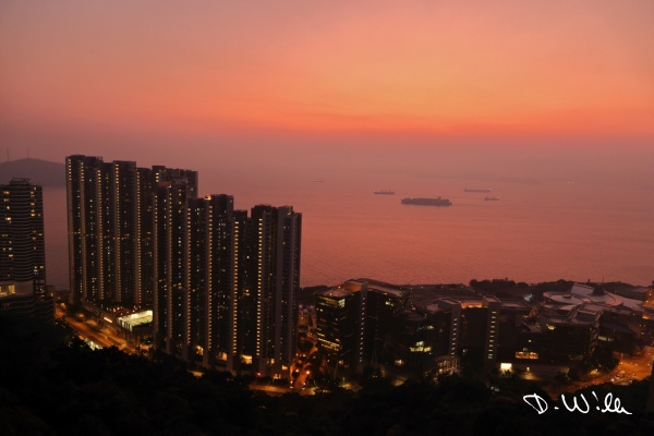 Sunset over the South Chinese Sea, Hong Kong
