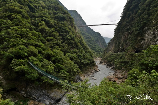 Suspension bridges across Liwu River, Taroko NP, Taiwan