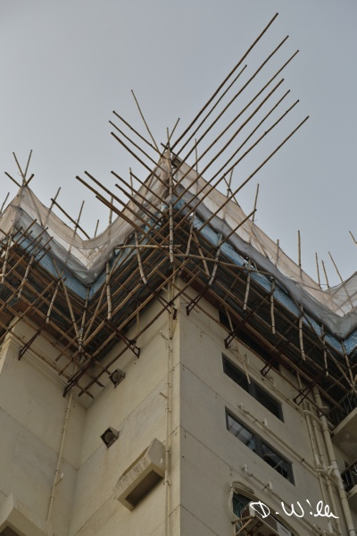 Typical bamboo scaffolding, Stanley, Hong Kong