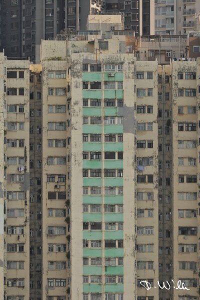 Typical multistory apartment building, Hong Kong