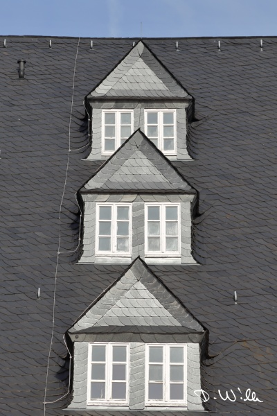 Roof of the old arsenal, Wolfenbüttel, Germany