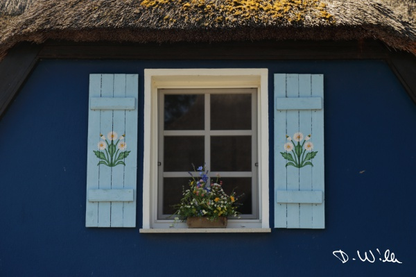 Traditional house, Middelhagen, Mönchgut, Rügen, Germany
